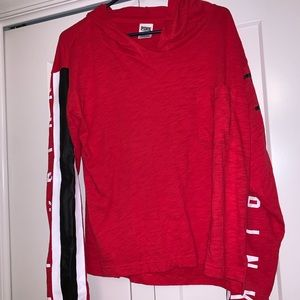 PINK Red Thin Hoodie